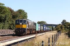 074 Sallins (finnyus) Tags: 074 sallins iwt liner freight train travel 071class ireland irish rail railway trains railways iarnródéireann leinster august k800