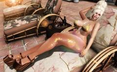 SHINE ON (Rachel Swallows Inworld Elenamicheals Core) Tags: beach freya hourglass maitreya materialsbodyshine pinkcharcoal pool saifraevent stargazercreations swimwear