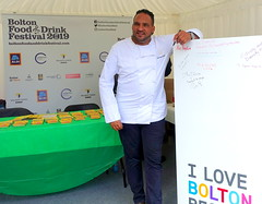 Chefs Michael Caines and Simon Wood at Bolton Food Festival 2019 (Tony Worrall) Tags: bolton event chefs men cooks foodies annual boltonfoodfestival photoshoot nw northwest north update place location uk england visit area attraction open stream tour country item greatbritain britain english british gb capture buy stock sell sale outside outdoors caught photo shoot shot picture captured ilobsterit instragram chefmichaelcaines