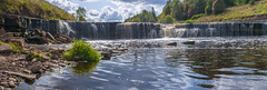 Panorama of waterfall on mountain river on summer day (a_d_andreev) Tags: landscape panorama wild river nature green park waterfall stream fall creek rock forest water tree natural travel background environment outdoor stone rivers view mountain scene fresh foliage leaf motion rossia europe