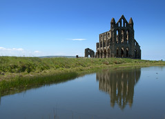 Images of Whitby Abbey (Tony Worrall) Tags: yorkshire yorks scene scenery northyorkshire resort yorkshirephotos east eastern seasidetown holidays tourists coast photographsofwhitby whitbyphotos whitby north update place location uk england visit area attraction open stream tour country item greatbritain britain english british gb capture buy stock sell sale outside outdoors caught photo shoot shot picture captured ilobsterit instragram iconic ruins heritage church tourist whitbyabbey stone reflection wetreflection calm wet water icon historic scenic beauty serene