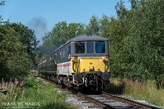 73210   Duffield long straight   25th August '19 (Frank Richards Photography) Tags: class 73 class73 selhurst 101 dmu class33 103 class33103 33103 73210 intercirty intercity electromotive train diesel electrodiesel derbyshire wirksworth duffield ecclesbourne valley railway nikon d7100 bank holiday saturday summer uk england