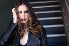 Photo of the Day - with Alyson (SDG-Pictures) Tags: alyson model modeling dark darkmakeup edgy fashion editorial lipstick hair brunette stairs portrait eyes beauty beautiful notalonephotos photooftheday