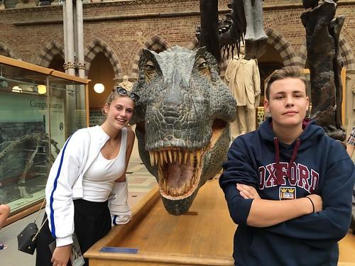 Luis and Vittoria at Oxford University Museum