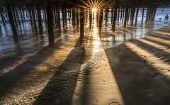 8I6A2933-Edit (Greg Meyer MD(H)) Tags: santamonica california sun sunset sunrise pier shadow ocean beach lines converge sand moody tranquil longexposure