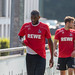Anthony Modeste in team jersey, leaving the pitch after football training