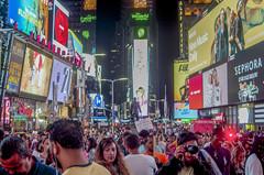 Times Square. New York City. (Capitancapitan) Tags: times square streetphotography newyorkcity neury luciano photography colors manhattan pictures apple big night life music pop rock urim y tumim el mundo gira camera pentax iphone instagram youtube facebook fashion