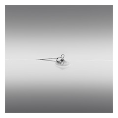 Buoy series - Sunken (Marco Maljaars) Tags: longexposure lagodilegro italy le blackandwhite marcomaljaars monochrome minimalism lake mood buoy waterscape light bw water rope silence shade reflection suncken