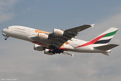 A6-EEA (Baz Aviation Photo's) Tags: a6eea airbus a380861 emirates expo2020titles heathrow runway 27l ek8 dubai dxb uae ek egll lhr