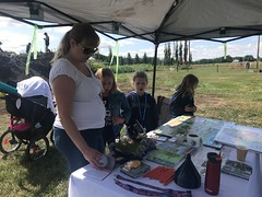 Open Farm Days (Oldman Watershed) Tags: sydney rebekkah henderson lake fishing open farm days outreach assistants family stroller baby girls learning fun farming smarter grass tent table summer 2019 pointduty