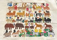 Human and Animal Families Mazahua Embroidery Mexico (Teyacapan) Tags: mariaeugeniaferrer mazahua bordados embroidery edomex sanfelipesantiago animals gente people textiles