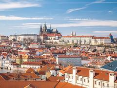 Prague (✦ Erdinc Ulas Photography ✦) Tags: prague city view landscape roof rooftop houses travel sky panasonic europe bridge czech republic landmark cityscape church panasonicg80 castle czechrepublic