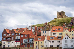 SJ2_0650 - The Church of St. Mary, Whitby (SWJuk) Tags: whitby england unitedkingdom swjuk uk gb britain yorkshire northyorkshire yorkshirecoast churchofstmary church abbey steps houses eastcliff estuary harbour riveresk overlooking clouds cloudy redrooftiles 2019 jul2019 summer holidays nikon d7200 nikond7200 nikkor1755mmf28 rawnef lightroomclassiccc