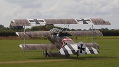 2019_08_0048 (petermit2) Tags: fokkerdr1triplane fokkerdr1 fokker dr1 triplane greatwardisplayteam eastkirkbyairshow2019 eastkirkbyairshow eastkirkby airshow spilsby lincolnshire