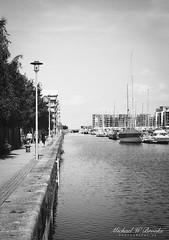 Portishead Quays Marina 5 (mwbrooks199) Tags: fujicast801 fujinon55mmf18 kodaktrix400 portisheadquaysmarina blackwhite