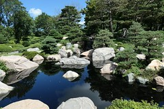 Japanese Garden (shelly.morgan50) Tags: shellymorgan50 panasoniclumixdczs200 nature japanesegarden usa midwest landscape garden rocks greenery sunlight sunshine light reflections trees pond scenery waterfall textures reflection