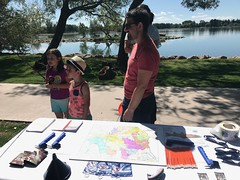 Henderson Lake (Oldman Watershed) Tags: sydney rebekkah henderson lake fishing open farm days outreach assistants family boy girl dad learning fun game summer 2019 grass trees water weekend pointduty