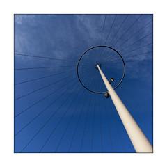 Blue sky (Jean-Louis DUMAS) Tags: bluesky blue sky abstract architecture mat haubans copenhagen square