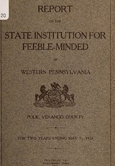 This image is taken from Report of the State Institution for Feeble-Minded of Western Pennsylvania, Polk, Venango County : for two years ending May 31, 1920 (Medical Heritage Library, Inc.) Tags: state institution for feebleminded western pennsylvania polk pa hospitals psychiatric wellcomelibrary ukmhl medicalheritagelibrary europeanlibraries date1921 idb30302808