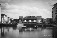H&W - Portishead Quays Marina (mwbrooks199) Tags: fujicast801 fujinon55mmf18 kodaktrix400 portisheadquaysmarina blackwhite