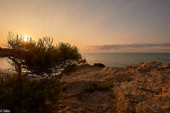 Amanecer en Cala Argilaga (salo75) Tags: mediterraneo nikon d700 water clouds agua paisaje amanecer nubes rocas sunrise peñiscola mar seascape cielo landscape beach playa