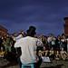 Ferrara buskers festival: cello against the thunderstorm