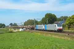 Lineas 186 445 + 186 454, Horst (Sander Brands) Tags: trein treni train treno trenuri trenuro traktion traxx rail railfanning railpool lineas nikon d7000 nederland strecke spotten shuttle bombardier kessel kesselwagen