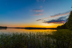 August dusk (Arttu Uusitalo) Tags: august late summer evening sunset finland lake lakescape landscape clear sky wideangle canon eos 5d mkiv twilight north ostrobothnia