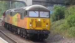 56302 (lcfcian1) Tags: train tracks rails south wigston station diesel platform summer railroad southwigston southwigstonstation colasrail colas rail class 56 56302