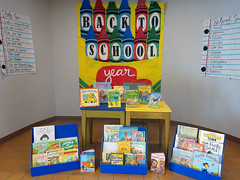 Back to school alcove display