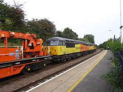 56049 (lcfcian1) Tags: train tracks rails south wigston station diesel platform summer railroad southwigston southwigstonstation colasrail colas rail class 56 56049