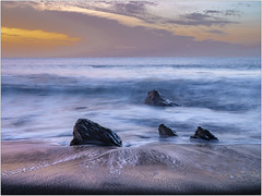 Sunset on LaGomera (stefan.bauer) Tags: sunset sunsettime beach long coloful beautifullight clouds sea ocean stones seascape water gomera lagomera spain canaryislands canarys