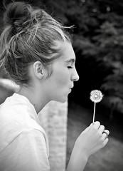 (jessclavier) Tags: portrait blackandwhite bw white black beauty photography lucky wish nikon summer happy flower