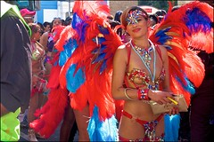 Carnival 2019 - DSCF4176a (normko) Tags: london west notting hill carnival 2019 nhc ladbroke grove caribbean festival celebration street parade bank holiday monday costume angel wings feathers cigarette lighter