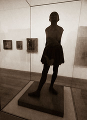 Little Dancer Aged Fourteen (Steve Taylor (Photography)) Tags: edgardegas littledanceragedfourteen cabinet art sculpture statue cast artgallery monocolour monocolor sepia metal bronze girl uk gb england greatbritain unitedkingdom london tatemodern