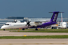 flybe DHC8 Q400 (Lilac livery) (Martyn Cartledge / www.aspphotography.net) Tags: aerodrome aeroplane air aircraft airline airliner airplane airport aspphotography aviation cartledge civilairline civilairliner dehavilland dhc8q400 flight fly flybe flying flywinglets gjecp jet lilaclivery man manchester martyn plane runway transport wwwaspphotographynet wwwflywingletscom uk asp photography