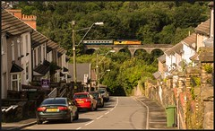 Bedwellty Road, Bargoed. (peterdouglas1) Tags: bargoed rhymneyvalleyline 37421 colasrail transportforwales