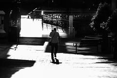 Street (lightersideofdark) Tags: street streetphotography blackwhite dark outside outdoors shadows trees shade people bright highlights