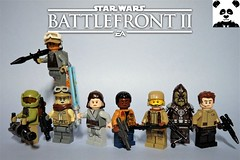 Star Wars Battlefront II - The Resistance (HaphazardPanda) Tags: lego figs fig figures figure minifigs minifig minifigures minifigure purist purists character characters films film movie movies tv star wars enforcer wookiee warrior aerial specialist finn rey officer heavy assault sith jedi battlefront 2 ii fn2187 the resistance first order mirialan