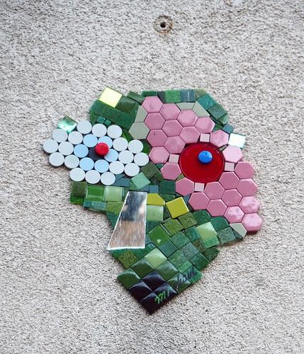 Mosaic installation by Mr Djoul [Paris 3e]