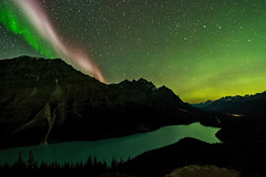 Sub Auroral Arc (STEVE) over Peyto Lake, Alberta (Christy Turner Photography) Tags: aurora auroraborealis northernlights spaceweather spacewx