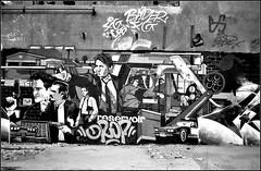 Urbex  Street art (Bokey Shutter) Tags: fujicager télémétrique rangefinder ilfordpanf urbex unieux noirblanc streetart