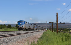 Trip Begins (GLC 392) Tags: amtrak passenger train amtk ge p42dc new mexico railroad railway nm 41 31 signal signals southwest chief code line semaphore east chapelle 3