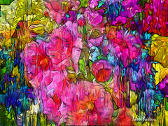 Delighrful Day (brillianthues) Tags: flowers floral garden nature abstract texture colorful collage photography photmanuplation photoshop