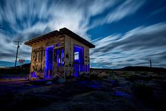 RUH Shack (Nocturnal Kansas) Tags: night nocturnal moon full led1 protomachines d800 nikon longexposure lightpainting nightphotography desert mojave