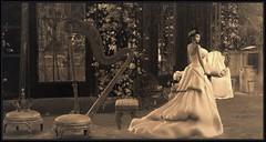 Concerto (Moxxie Kalinakova) Tags: retro music vintage elegant beauty brunette sepia moxxie kalinakova