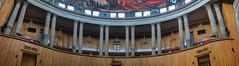musa auditorium (ikarusmedia) Tags: auditorium mural panorama landscape columns doors guadalajara musa museum jalisco mexico interior arquitecture charis chandeliers enrique diaz de leon jose clemente orozco railing