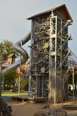Escape tower (radargeek) Tags: tulsa ok oklahoma thegatheringplace playground park adventureplayground slide