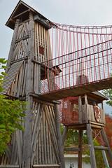 Castle towers (radargeek) Tags: tulsa ok oklahoma thegatheringplace playground park ropes castle adventureplayground