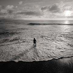 Irago surfer #1 (Hekoru) Tags: fiml hasselblad japan surf surfer beach sunset 6x6 square analog sea ocean seaside seascape